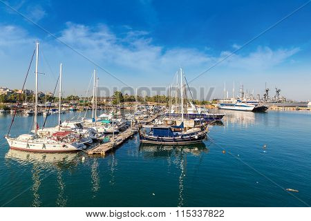 Port Piraeus In Athens, Greece