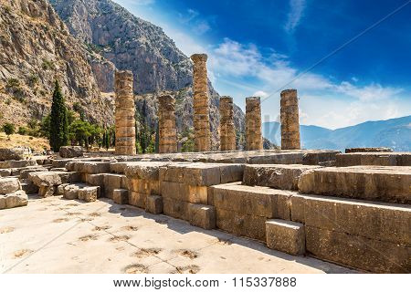 The Temple Of Apollo In Delphi