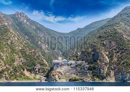 Dionisiou Monastery On Mount Athos