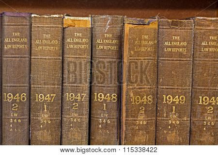 LIVERPOOL UK 16TH JAN 2016  Old Volume Of All England Law Reports 1946-1049