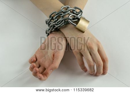 Chained Woman's Hands