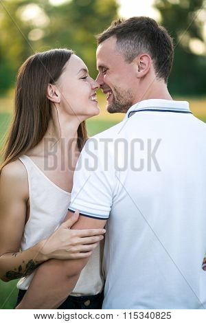 Young Couple In Love Outdoor.stunning Sensual Outdoor Portrait Of Young Stylish Fashion Couple Posin