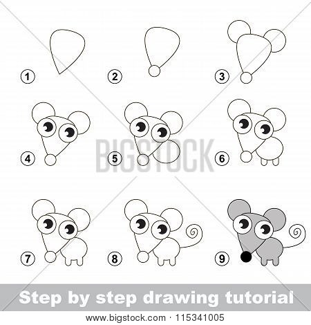 Drawing tutorial. How to draw a Little Mouse