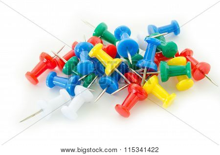 Colorful Push Pins.