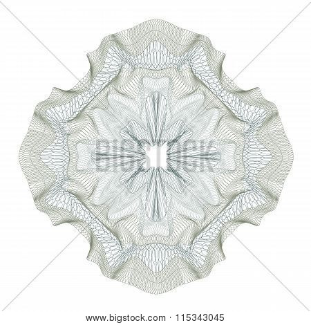 guilloche decorative element for design certificate, diploma and bank note