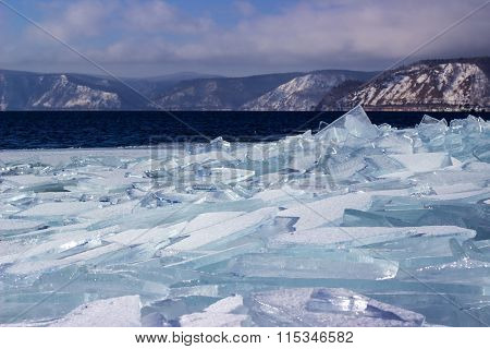 ice-drift on lake Baikal
