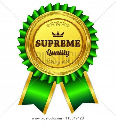 Supreme Quality Green Seal Vector Icon