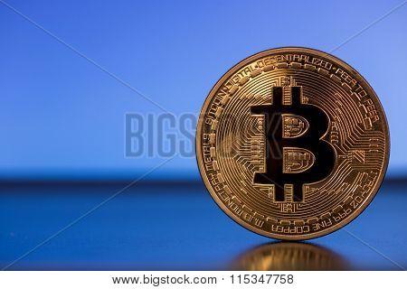 Bitcoin Metal Symbol