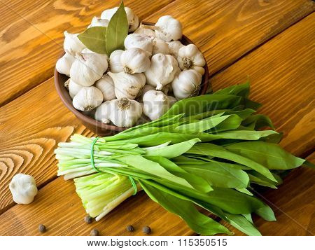 Garlic And Salad