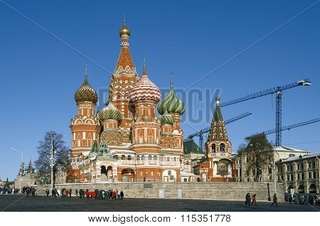 View of St. Basil's Cathedral, Moscow