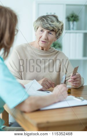 Elder Woman With Social Worker