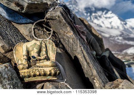Headless Buddha Figurine In The Everest Region