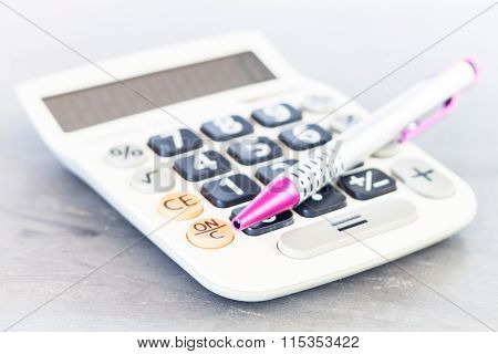 Close Up Calculator With Pen
