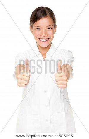 Happy Beauty Spa Therapist Woman Successful