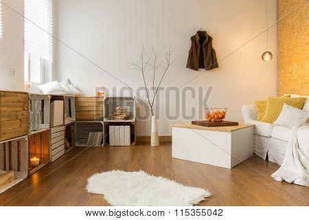 Autumn In Cozy Living Room