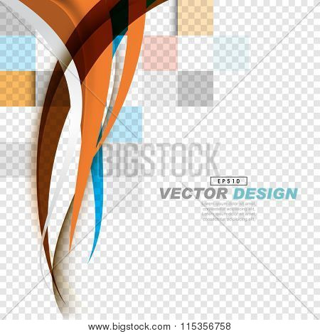 simple elegant corporate overlapping wave elements background