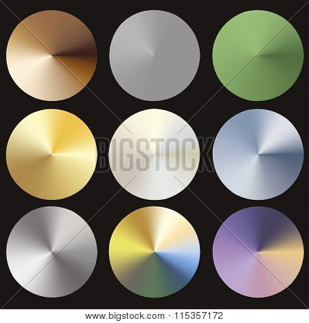 Radial gradients set. Editable gradient mesh.