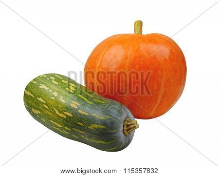 Pumpkin Orange And Green, Isolated