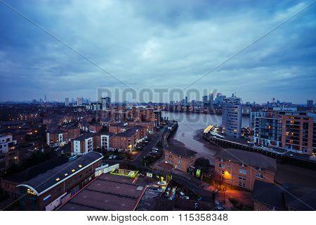 Gloomy London Skyline