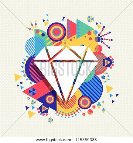 Diamond Icon Luxury Concept Color Shape Background