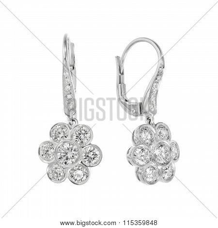 Couple of diamond earrings