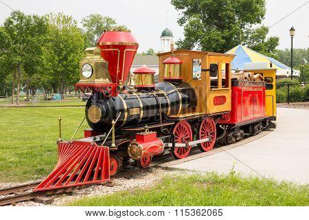 Narrow Gauge Train At Bay Beach Amusement Park