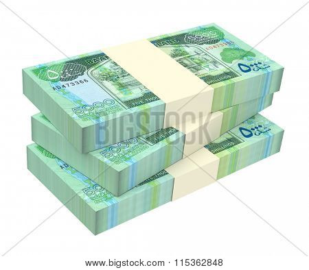 Somaliland shilings bills isolated on white background. Computer generated 3D photo rendering.