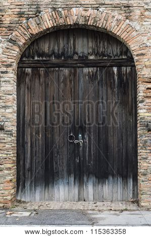 Old Big Wood Door