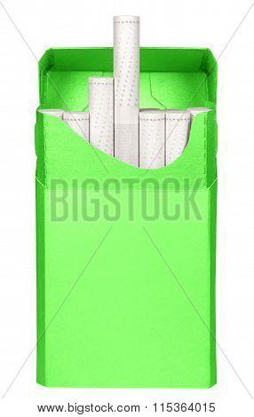 Cigarettes Box - Opened-green