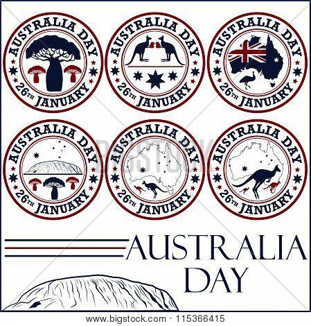 Australia day stamps
