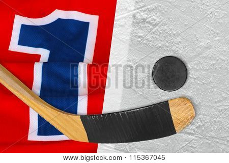 The Hockey Sweater, Stick And Puck
