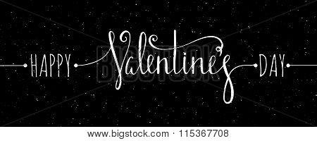 Chalk textured Happy Valentines day inscription.