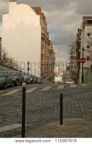 Paris, France - November 27, 2009: View Of Paris Streets From Montmartre Hill