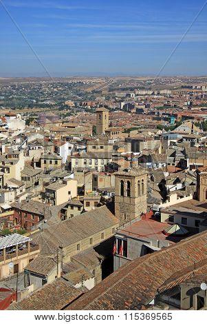Toledo, Spain - August 24, 2012: Aerial View Of Toledo.