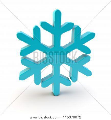 3D Snow Crystal Symbol