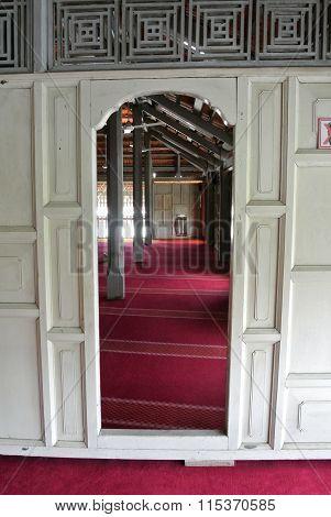 Door of Langgar Mosque at Kota Bharu, Kelantan, Malaysia