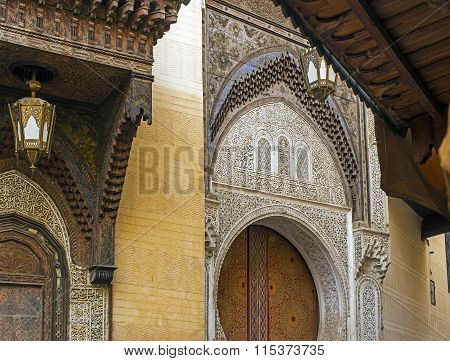 Al-attarine Madrasa, Fez El Bali Medina. Morocco.