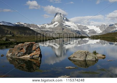 Matterhorn with nice reflection in lake