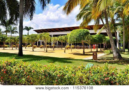 Punta Cana Dominican Republic - March 20 2010: Territory of Hotel Catalonia Royal Bavaro in Punta Cana