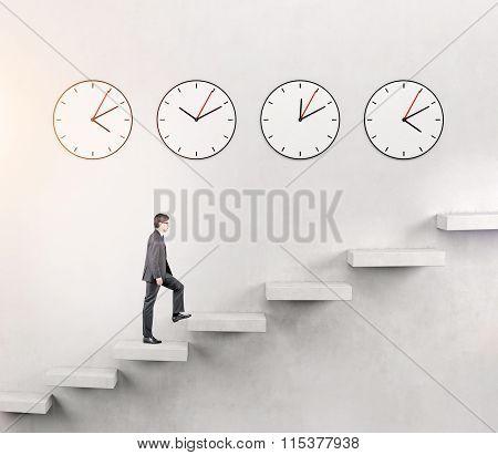 Man Going Upstairs, Time Running