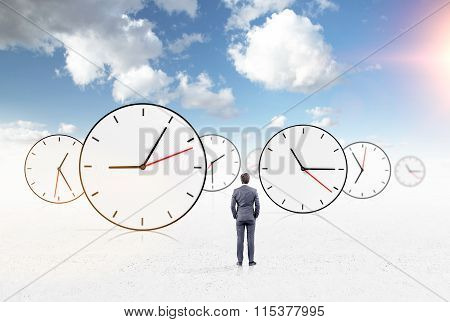 Businessman Watching Time