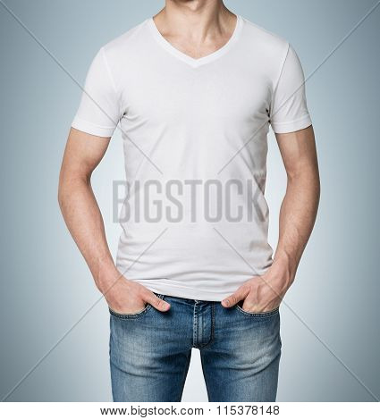 Man With Hands In Jeans Pockets