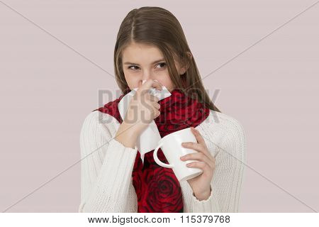 Sick young girl