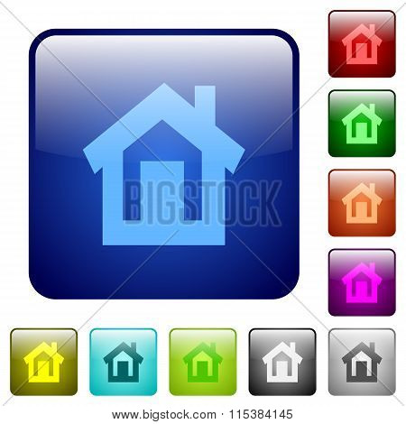 Color Home Square Buttons