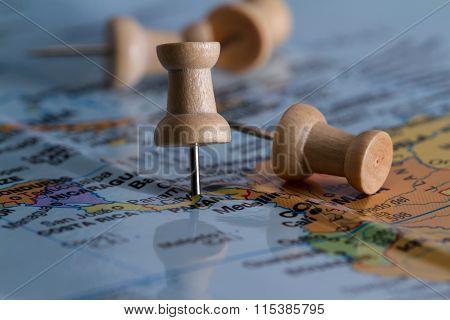 Panama On A Map