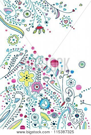 Digital floral background in contemporary style.