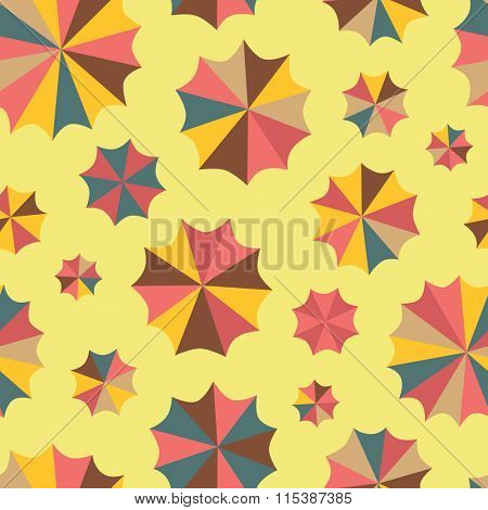 Seamless umbrellas pattern in bright colors.