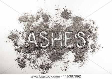 Ashes Word Written In Ashes