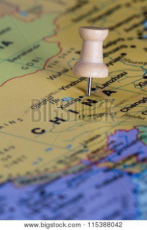 China On A Map