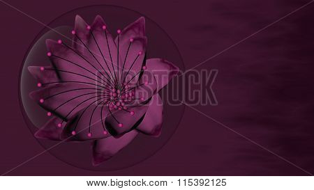 Violet Flower in a Bubble